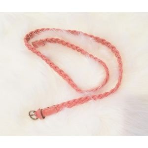 Accessories - Thin coral colored braided belt